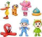 7 Piezas Pocoyo Cake Topper, Pocoyo Mini Figuras Decorativas para Tartas Mini Juguetes Pocoyo Acción Figuras para Niños y Niñas Fiesta de Cumpleaños Baby Shower