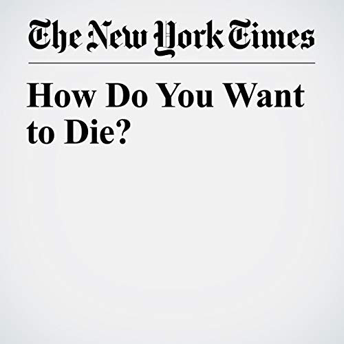 How Do You Want to Die? copertina