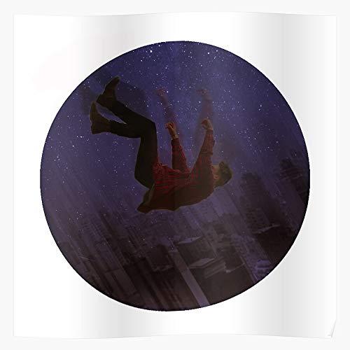rabitat Horseman Fall Falling Night BoJack Geschenk für Wohnkultur Wandkunst drucken Poster 11.7 x 16.5 inch
