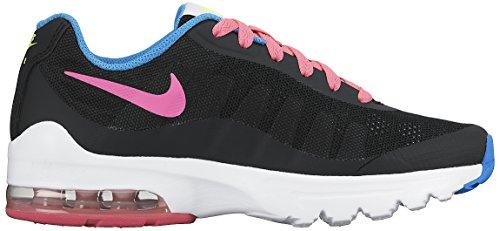 Nike Air Max Invigor (GS), Scarpe da Corsa Bambino, Noir Rosa Verde Azul Black Pink Pow Volt Photo Blue, 35.5 EU