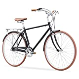 sixthreezero Ride In The Park Men's 3-Speed Touring City Bike, 700x32c Wheels, Matte Black,...