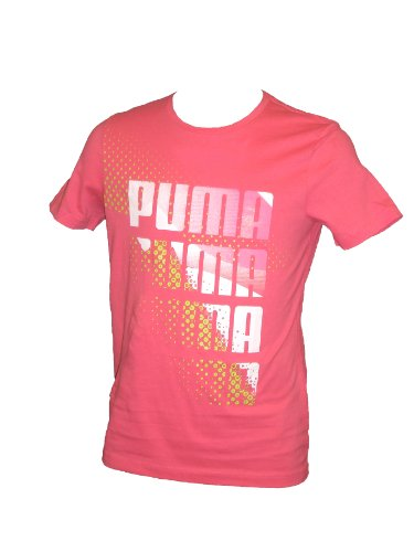 PUMA Kinder T-Shirt graphic 2 Tee Organic Cotton, rouge red, 104, 817269 04