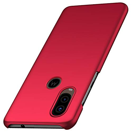 Moto One Vision Case, Moto P40 Case, Tianyd [Color Series] [Ultra-Thin] [Anti-Drop] Minimalist Material Ultra-Thin Protective Cover for Motorola Moto One Vision/Moto P40 (Smooth Red)