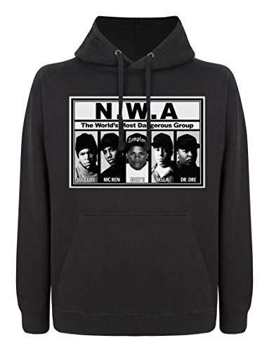 Indy Designs NWA Hoodie, Dr DRE Vintage Hoodie, Ice Cube Hoodie, GPO Group Exclusive, NWA Straight Outta Compton Hoodie, Unisex Hoodie, Streetwear Gr. L, Schwarz