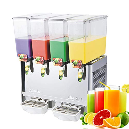 Ship to door 4x9L tanks hot & cold function juice dispenser frozen drinks frozen fruit juice Beverage dispenser frozen juice machine Beverage ice tea drink dispenser juice machine