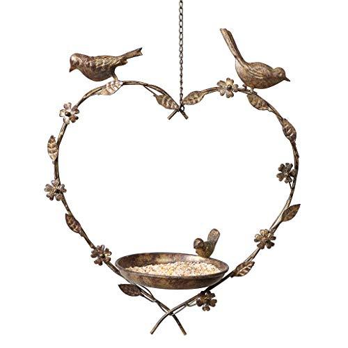 Dibor Bird Feeder Dish Hanging Heart Spring Summer Gardening Gift