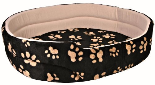 Trixie 37014 Bett Charly, 65 × 55 cm, schwarz/beige