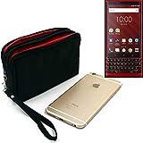K-S-Trade Belt Pack For Blackberry KEY2 Red Edition, Black.