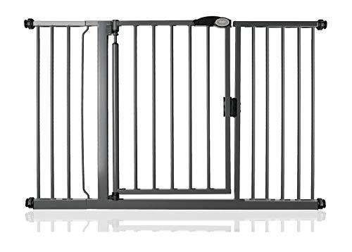 Bettacare Portail d'escalier à fermeture automatique (132,6 cm - 139,6 cm, gris ardoise)