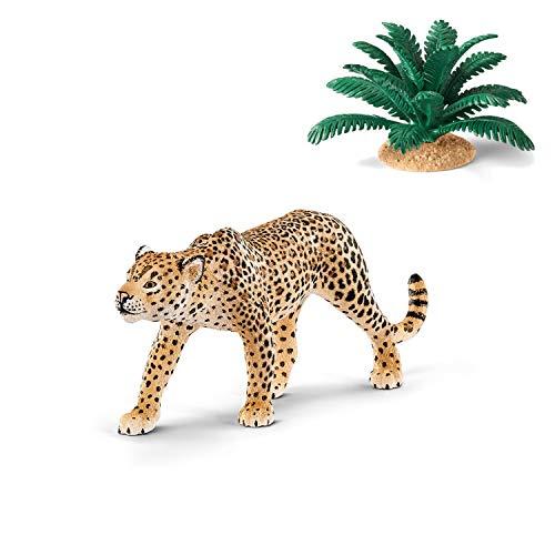 Wildlife Schleich 14748 Leopard + 42244 Farn