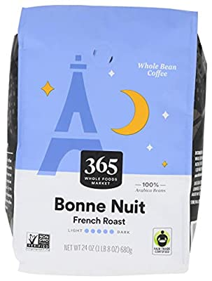 365 by Whole Foods Market, Whole Bean Coffee, French Roast, Bonne Nuit, 24 Ounce