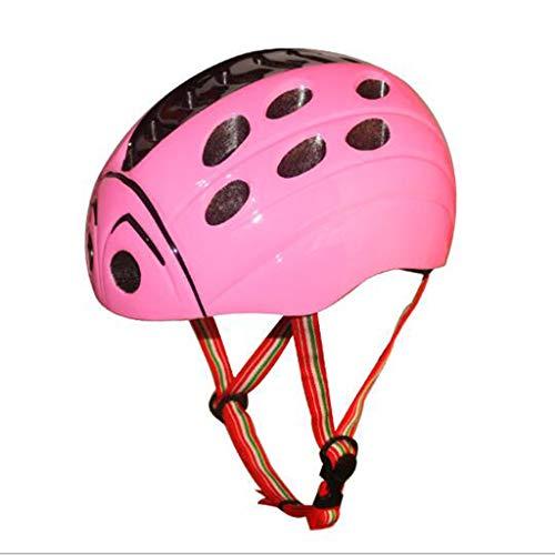 JIE KE Casco de bicicleta para niños estilo mariquita de insectos niños...