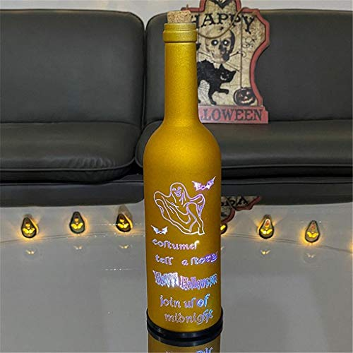 PLENTOP Halloween Wine Bottle Lamp Lights with Cork Waterproof Battery Operated Cork String Lights for Jar Party Wedding Christmas (D)