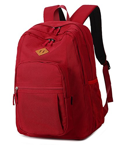 Abshoo Girls Solid Color Backpack For College Women Water Resistant School Bag (Red)