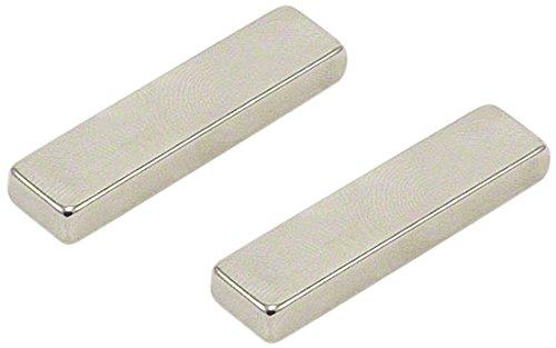 Magnet Expert 40 x 10 x 5 mm d'épaisseur N42 Néodyme Aimant - 8.3 kg de traction (Paquet de 2)