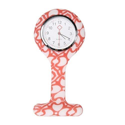 Enfermeras Relojes Doctor portátiles Baterías Reloj de Bolsillo broches de Silicona Túnica...