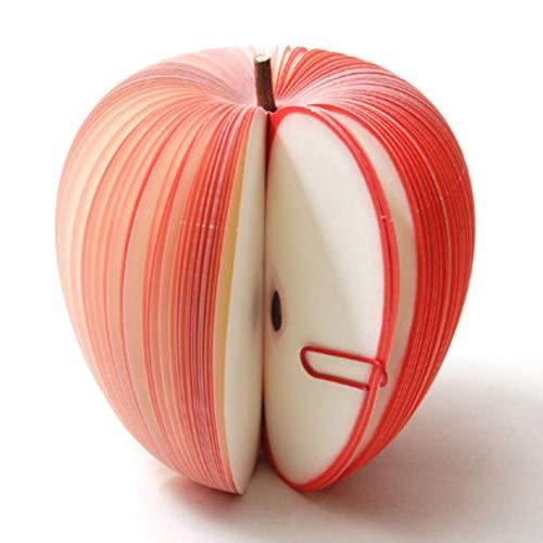 (1 Unids / venta) Cuadernos de frutas de manzana simulados Bloc de notas Regalos de Navidad Diario para dibujar Pintura Oficina Papelería escolar al azar