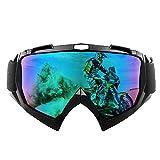 shirylzee Gafas de Moto UV Protección Gafas Ajustable Antifaz a prueba de viento para Viento Motocross Ciclismo esquí (lente colorida)