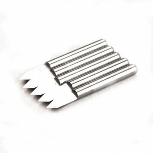 Autek KIt de 5 brocas de grabado de metal duro PCB, juego de herramientas para fresadora con CNC, 0,2 mm, J3.6002 Alta precision