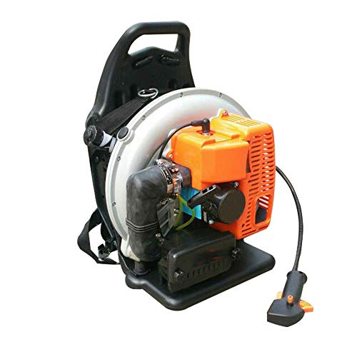 65CC 3.6HP 2 Stroke Backpack Gas Powered Leaf Blower Grass Lawn Blower Air Cooling Commercial 2 Stroke 65cc Gas Powered Leaf Blower Gasoline Backpack Grass Blower with Harness Air-Cooled