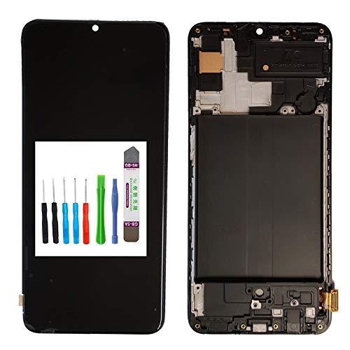 für Samsung Galaxy A70 SM-A705F Ersatz In-Cell Display LCD Touchscreen Digitizer Grün LCD+Touch+Rahmen+WERKZEUGSET