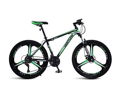 DGAGD Rueda Tri-cortadora de Bicicleta de Velocidad Variable de Bicicleta de montaña de 26 Pulgadas-Verde Oscuro_24 velocidades