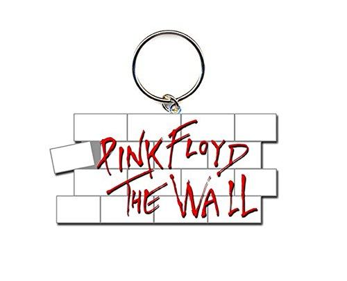 Pink Floyd The Wall White Red Bricks Logo Metal Keychain