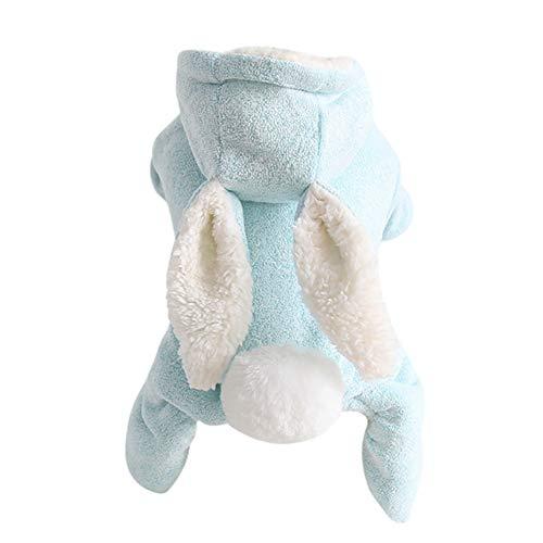 Dingsheng Pet Dog Hooded Jumpsuit Cotton Cute Rabbit Einteiliger wärmer Hooded Jumpsuit