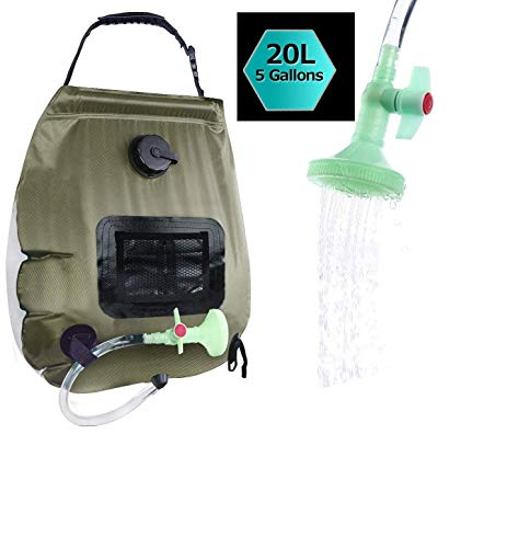 Review Of Erago Shower Bag, 5 Gallons/20L Portable Camping Shower Bag withOn/Off Switchable Shower H...