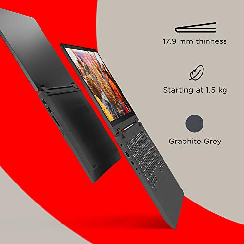 Lenovo IdeaPad Flex 5 AMD Ryzen 5 4500U 14 inch Full HD IPS 2-in-1 Convertible Laptop (8GB/512GB SSD/Windows 10/MS Office 2019/Integrated AMD Radeon Graphics/Graphite Grey/1.5Kg), 81X2004RIN