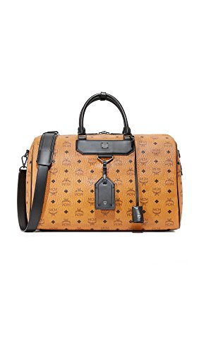 MCM Women's Nomad Medium Weekender Bag, Cognac, One Size