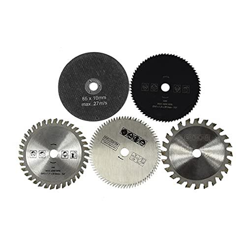 Sierra Tct de 24 dientes, juego de sierra circular HSS TCT de 5 piezas, discos de corte de madera de 85x10MM para juego de discos de corte de herramientas rotativas de Metal