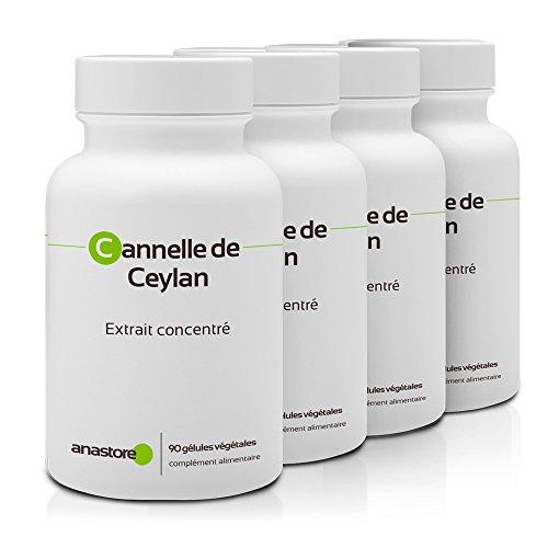 CANELA DE CEILÁN OFERTA 3+1 GRATIS | 250 mg / 360 cápsulas | Digestión (trastornos gastrointestinales) | Fabricado en Francia
