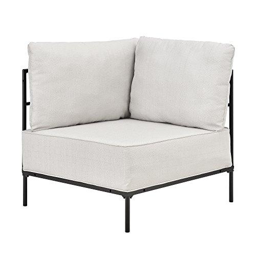 [en.casa] Sillón de esquina arena - modular - decorativo - estructura + cojines tapizados - máximo confort