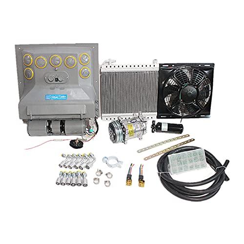 Evaporador universal de aire acondicionado A/C de pared trasera de 12V.24V para máquinas de alto rendimiento, camiones, tractores, caravanas, automoción (24V)