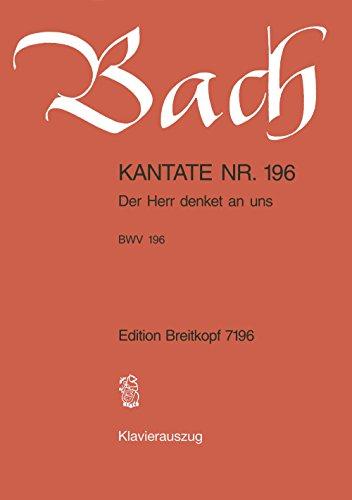 Kantate BWV 196 Der Herr denket an uns - Trauung - Klavierauszug (EB 7196)