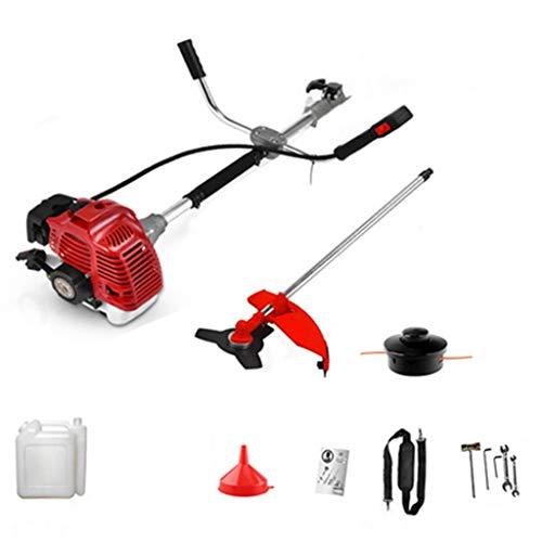 JSPOYOU Petrol Garden Brush Bush Cutter 43cc Grass T-rimmer Strimmer lawn mower