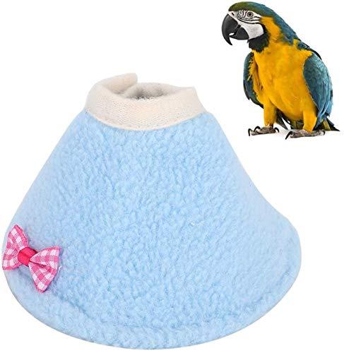 Luckylele Pet Recovery Collar Vogel Anti Bite Hals Kragen Papageien Einstellbare Erholungskragen Für rot Breasted Sittich Eclectus Papageien Hund und Katze (Size : S)