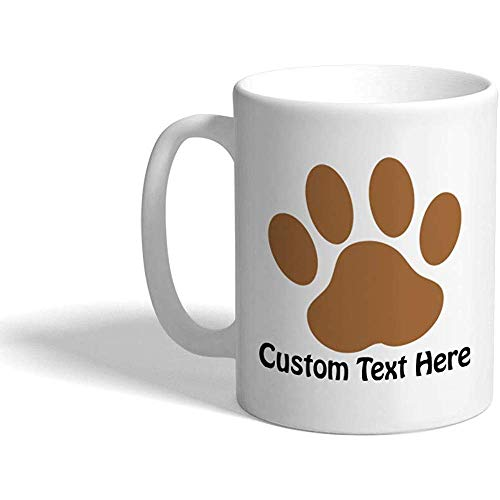 Taza de café personalizada 330 ml Pawprint Fantasy Bigfoot Taza de té de cerámica Texto personalizado