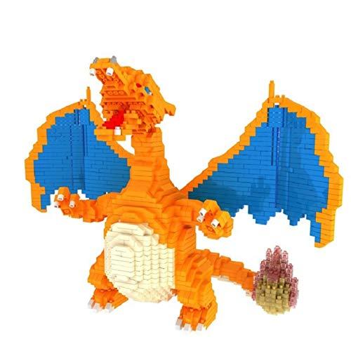 Ladrillos Mini DIY Bloques De Construcción De Pokemon del Bolsillo del Diamante De La Muñeca De Juguete De Regalo De Cumpleaños De Los Niños (Charizard)