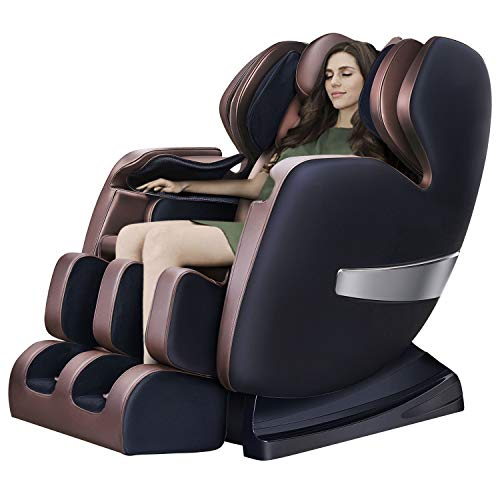 Massage Chair By OOTORI, Deluxe S-Track Recliner with 3D Robot Hand, Zero Gravity Full Body Air Massage, With Stretch Heating Vibrating Function (style-1)