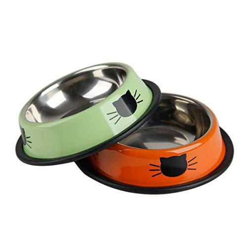 【 人気商品のニューカラー 】iikuru 猫 食器 可愛い 猫用 餌入れ 水飲み ネコ 水入れ 皿 ねこ 水 えさ 入れ 子猫 フード ボウル ステンレス 2個 セット y288