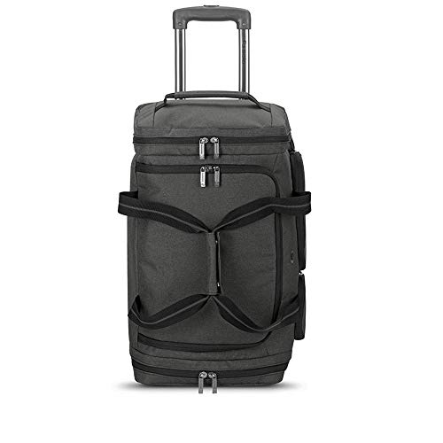 Solo New York Downtown Travel Rolling 22 inch Carry-On Wheeled Duffle Bag Luggage-49L, Grey