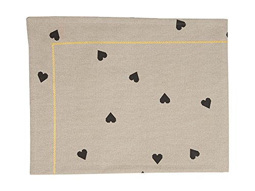 Nappe grise coeur 140x220 cm Present Time