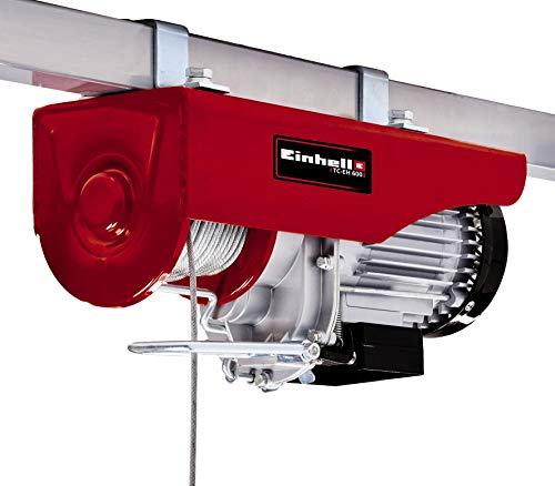 Einhell Seilhebezug TC-EH 600 (1050 W, Tragkraft ohne Umlenkrolle 300 kg auf 18 m/mit Umlenkrolle 600 kg auf 9 m, 18 m Drahtseil (Ø 4,5 mm), inkl. Sicherheitsbügel am Lasthaken)