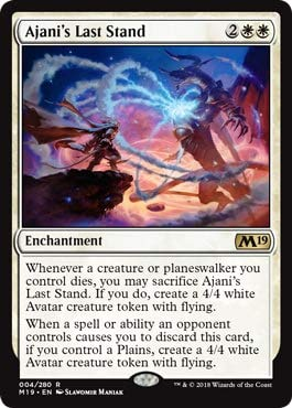 Magic The Gathering Ajani's Last Stand Ultima Resistenza di Ajani - Core Set 2019