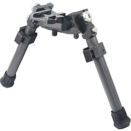 "Ajoite UUQ 8"" - 12"" Adjustable Bipod, Heavy Duty Carbon Fiber Tactical Rifle Bipod, Picatinny/Weaver Rail Mount Base (Quick Detach Lever)"