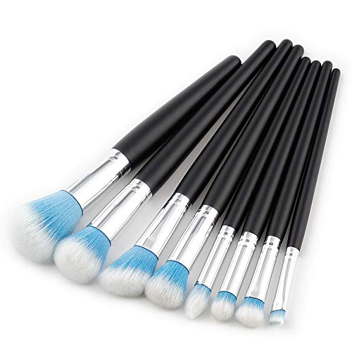MEIYY Pinceau de maquillage Make Up 8Pcs Makeup Brush Foundation Powder Eyeshadow Brush Blush Eyebrow Brushes Set Kits