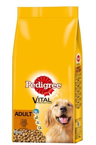 Pedigree Adult Hundefutter Geflügel, 1 Packung (1 x 15 kg)