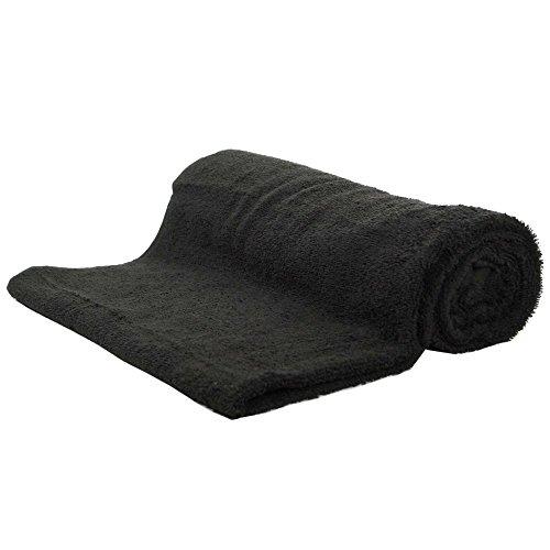 Onbekend saunahanddoek zwart badstof katoen 500g / m2 handdoek 80 x 200 cm